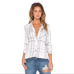 Rails Hunter Plaid Flannel Shirt - White/Charcoal